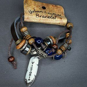 Victoria Urban Leather Bracelet Personalized Name